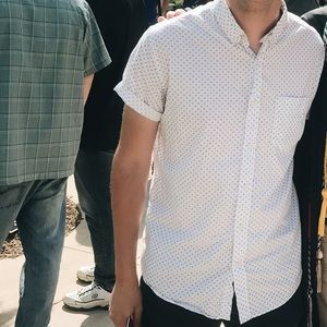 Cool Pattern Short Sleeve Button Down